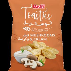 Master Toasties Mushrooms and Cream