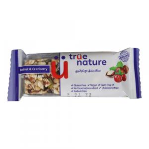 True Nature Organic Hazelnut & Cranberry Bar