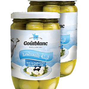 Goûtblanc Labneh en Boules avec Huile d'Olive